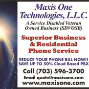 Maxis One Technologies, L.L.C., a Service-Disabled Veteran Owned Business (SDVOSB) (CVE), Leesburg VA