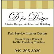 D for Design Interior Design & Fine Furnishings, Aliso Viejo CA