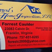 Forrest's Home Inspections LLC, Franklin VA