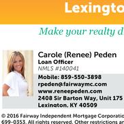 Fairway Independent Mortgage Corporation - Renee Peden, Lexington KY