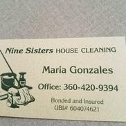 Nine sisters house cleaning , Burlington WA