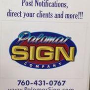 Palomar Sign Company, Carlsbad CA