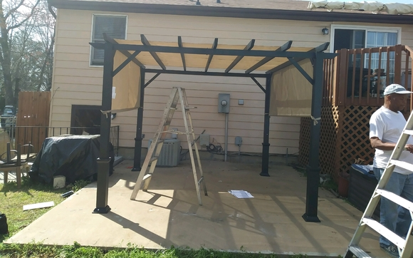 1496762852 after patio awning installation handyman contractor mold vapor barrier dishwasher garbage disposal trampoline roofing shutter gutter guard security bar