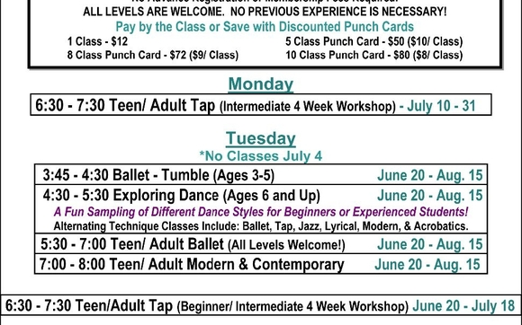 Summer Dance Classes For Kids Adults By The Dance Element In