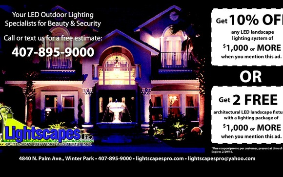 Lightscapes led landscape lighting by lightscapes outdoor lighting landscape lighting led specials 1 in orlando for led landscape lighting landscape lighting service company professional courteous and dedicated to your workwithnaturefo