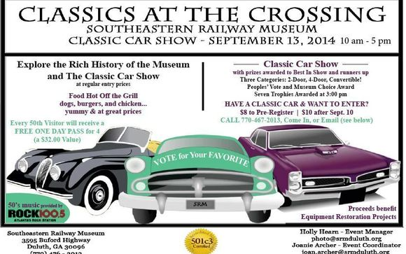 Classics At The Crossing Car Show At Southeastern Railway Museum - Fun car show award categories