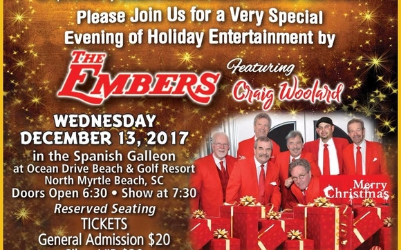 join eileenknowshomes and riptide radio for the only christmas show performance by the embers featuring craig woolard in the myrtle beach area