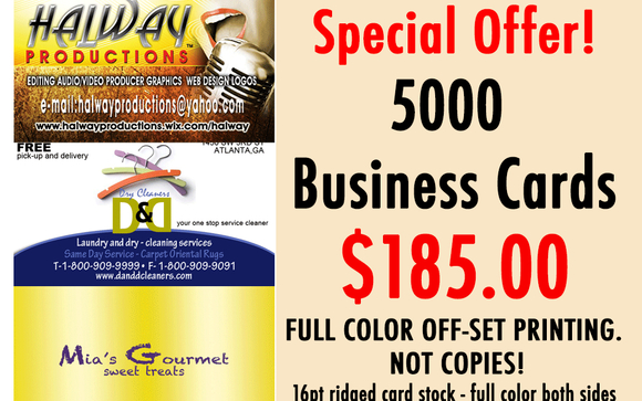 Special offer 5000 full color business cards by inktekmedia get 5000 business cards printed on 16pt ridged gloosy card stock these cards are professionally printed with real ink offset not digital copies colourmoves