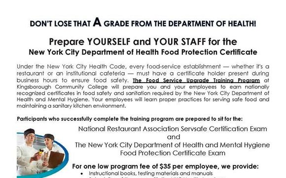 $35 DOH & ServeSafe Food Handlers Protection Certificate Training by ...