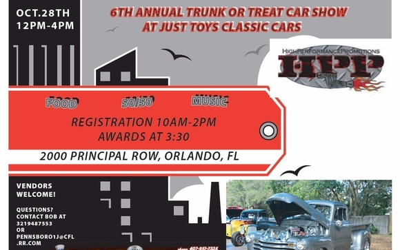 Th Annual Trunk Or Treat Car Truck Show By Just Toys Classic Cars - Car show orlando fl