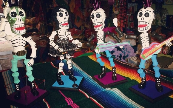 Evolving Assemblage Of Dia De Los Muertos Folk Art Largest Collection Mexican Living Altar Day The Dead Crafted By Artisans From