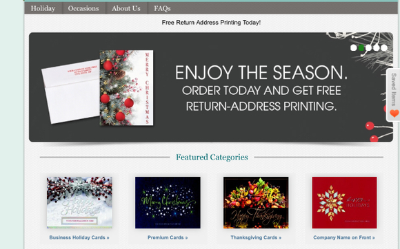 custom holiday cards site from connect by connect print