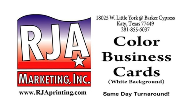 Business cards special by rja print shop in katy tx alignable 250 color business cards only 10 these are great starter cards if youre just starting a business or just dont need more than that colourmoves
