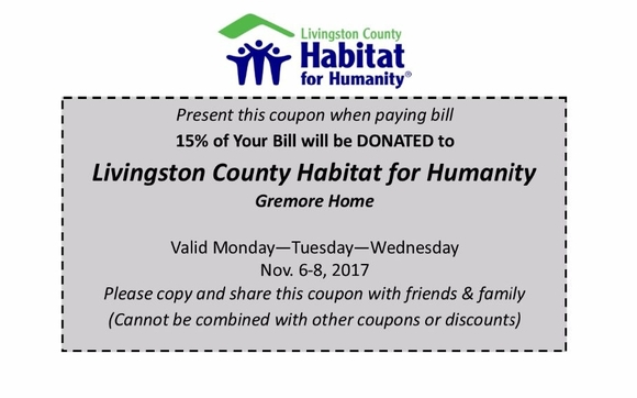 Marvelous Dine One Day Or All Three, Lunch And Dinner, Dine In Or Carry Out, To  Support Livingston County Habitat For Humanity. LaMarsa In Brighton Is  Generously ...