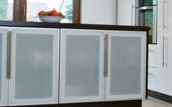Aluminum Frame Glass Kitchen Cabinet Doors By Cronos Design In Lodi