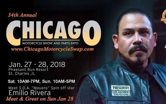 34th annual chicago motorcycle show swap meet by true frequency new used motorcycle parts bikes leather music sons of anarchy celebrity appearance custom bike show with cash trophy awards meet emiliorivera48 m4hsunfo