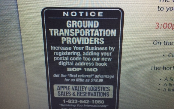 Reserve A BidShare Ride By Apple Valley Transportation