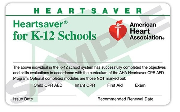 AHA K-12 Certification by CPR Works of Charlotte, Inc. in Charlotte ...