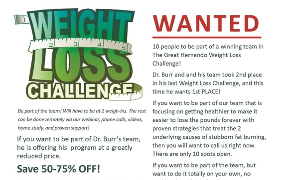 we are looking for 10 people to be a part of a winning team in the great hernando weight loss challenge this is an event hosted by the florida department