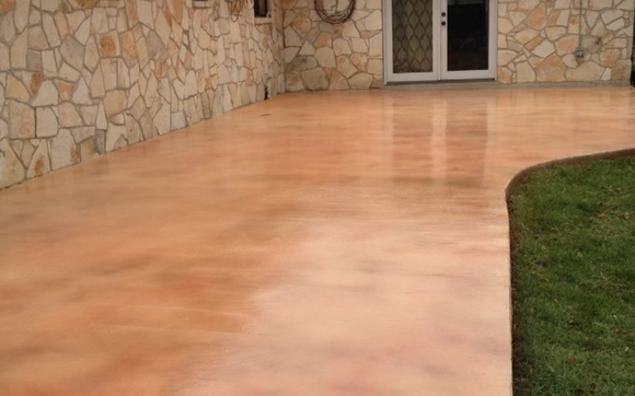 Exterior Concrete Stain and Seal by Ultimate Concrete Finishes in ...