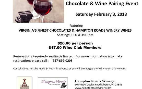 Chocolate Wine Pairing By Virginias Finest Chocolates In