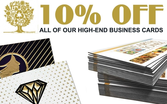 10 off luxury business cards by xumba printing inc in miami fl 10 off in all of our high end business cards from february 1st to february 28th 2018 this promotion includes business cards in the following materials reheart Gallery