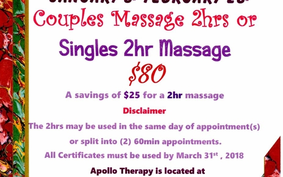 Valentines Day Special By Apollo Therapy In Boise Id Alignable