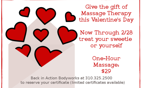 Valentine 39 S Day Massage Gift Certificate By Back In Action