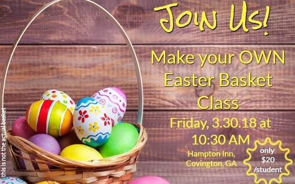 Easter basket making class by kimberly cole signature gifts in well join kimberly cole signature gifts as we host a make your own easter basket class negle Choice Image
