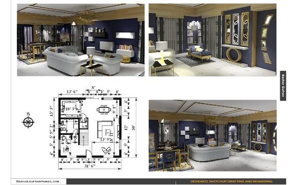 interior design dreafting by bash design miami in miami fl