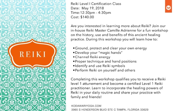 Reiki Certification Level1 By Kodawari Studios In Tampa Fl Alignable