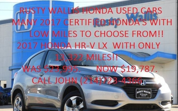 Rusty Wallis Honda Used Car Dealership Also Has Used Trucks In Garland, TX  We Offer The Largest And Highest Quality Used Car And Used Truck Selection  For ...