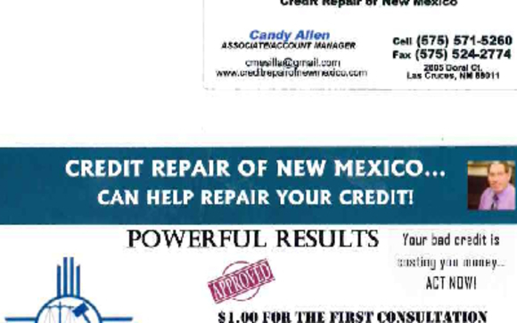 Credit repair of new mexico by credit repair of new mexico in las 1524588670 crnm business card booth with credit repair colourmoves