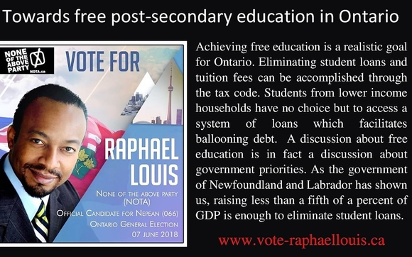 free post secondary education in canada