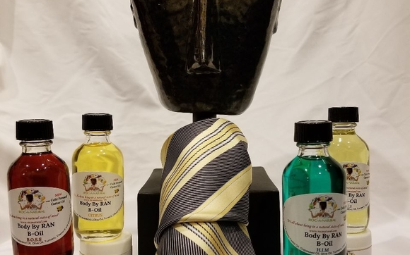 Say it with a customize moisturizing dynamic duo Father's Day gift set of Body by R.A.N B-Oil B.O.S.S, Citrus, H.I.M and U.S for $28!!!