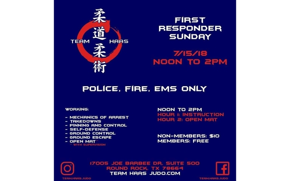 First Responder Sunday 71518 By Team Haas Judo Jiu Jitsu In Round