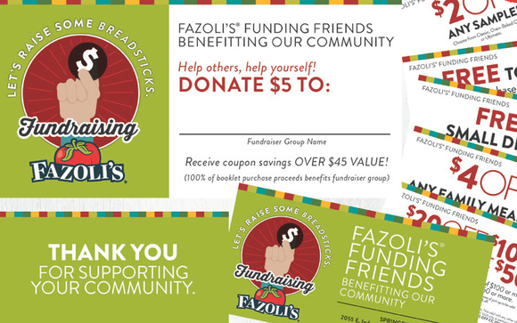 fazoli 39 s coupon book fundraiser by boys girls club of