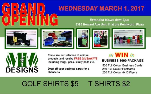 Business grand opening giveaways
