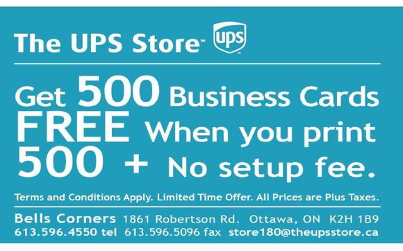 Business card promotion 08032017 by the ups store 180 in kanata 1488983197 blob reheart Gallery