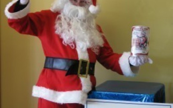 1396552946 santa with beacon santa canister and chocolate