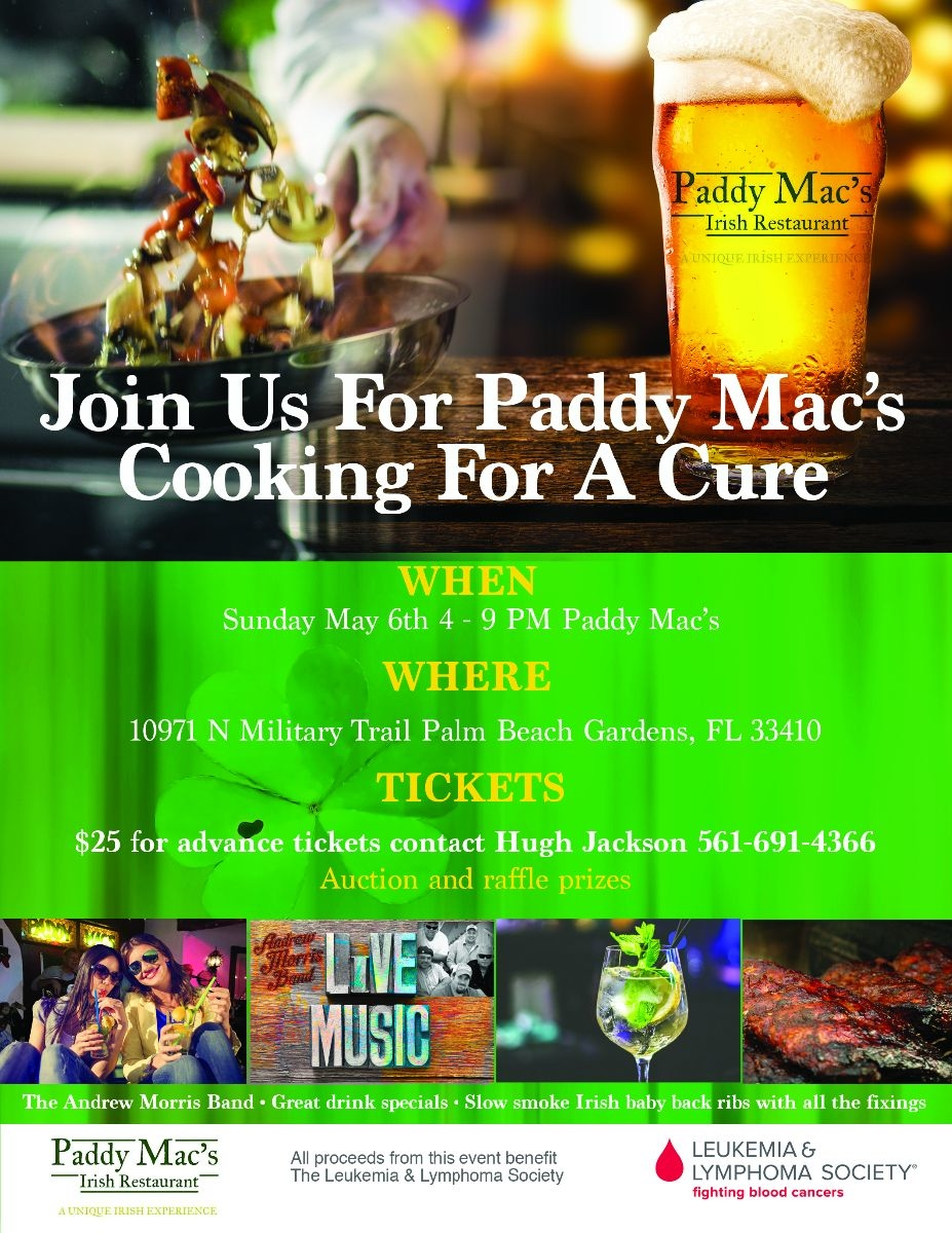 Paddymacs cook for the cure by paddymacs Irish bar in Palm Beach ...