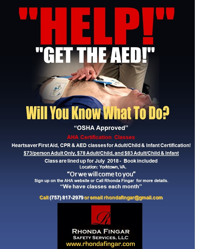 Aha Heartsaver First Aid Cpr Aed By Fingar Safety Services Llc In