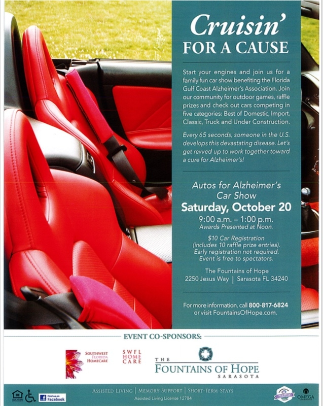 Crusin For A Cause Autos For Alzheimers Car Show By The - Car show events sarasota