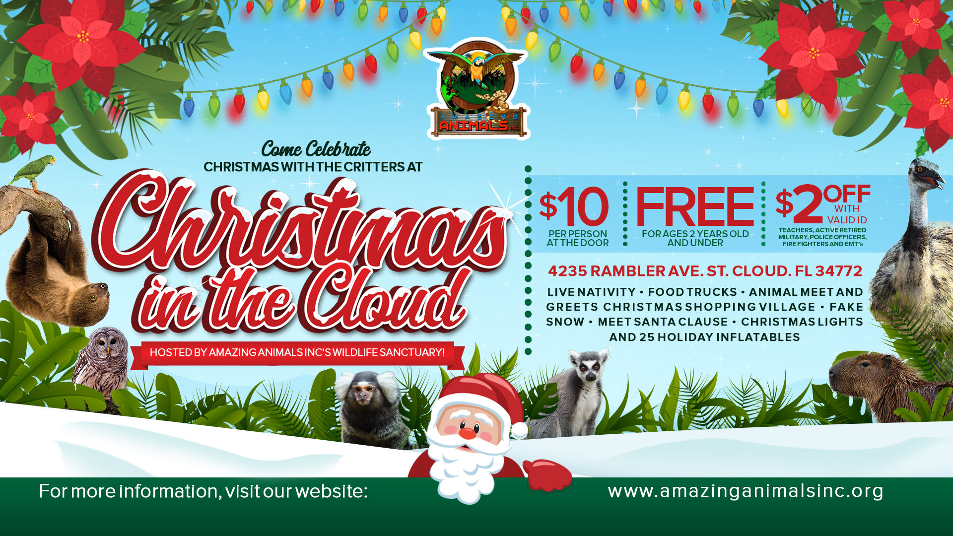 Christmas In The Cloud By Amazing Animals Inc In Saint Cloud Fl