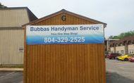 1490797237 bubbas handyman service richmond virginia 804 329 2525 www.bubbashandymanservice.net  contractor handyman plumbing carpentry flooring roofing gutter shutter assembly improvement remodel