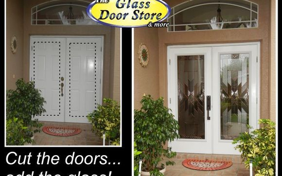 Add Glass Door Inserts To Your Existing Front Entry Doors By The