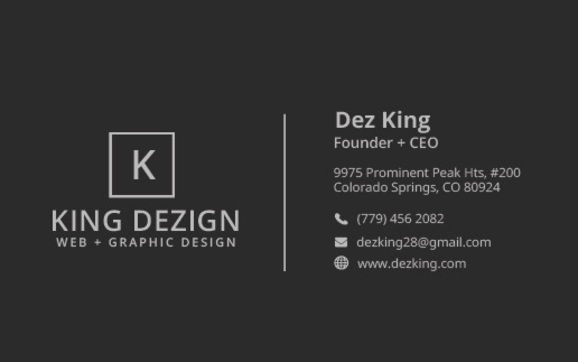 Website graphic design by king dezign in colorado springs co i create logos business cards any kind of print and digital marketing collateral custom websites for businesses and professionals portfolios and resumes colourmoves