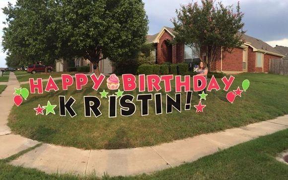 Birthday Yard Signs By North Texas Cards LLC In Arlington TX