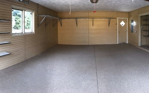 Shelving And Epoxy Flooring To Make Your Garage More Organized And  Productive!