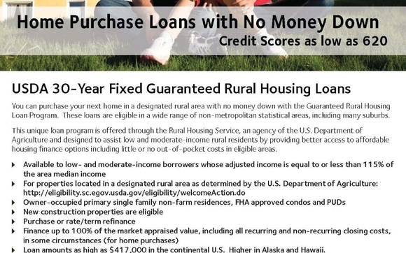 You Can Purchase Your Next Home In A Designated Rural Area With No Money  Down With The Guaranteed Rural Housing Loan Program. These Loans Are  Eligible In A ...